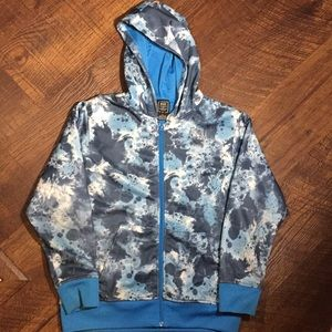 Boys Nike Blue & White Zip Up Hoodie Large
